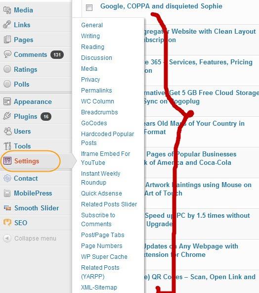 Flyout Menu in WordPress 3.3