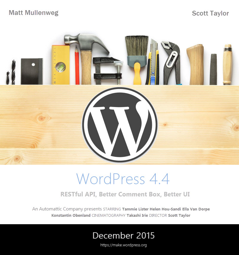 WordPress 4.4 Coming Soon
