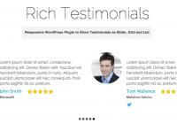 Rich Testimonials WordPress Plugin