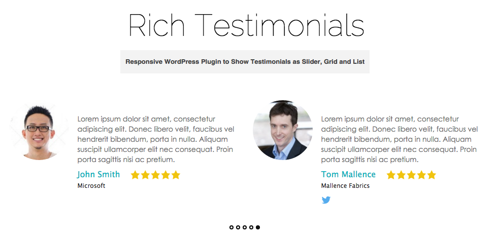 Rich Testimonials WordPress Plugin