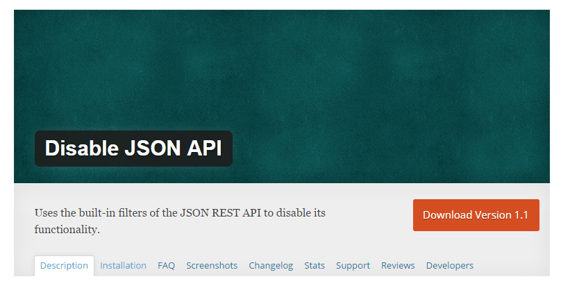 Disable-JSON-API